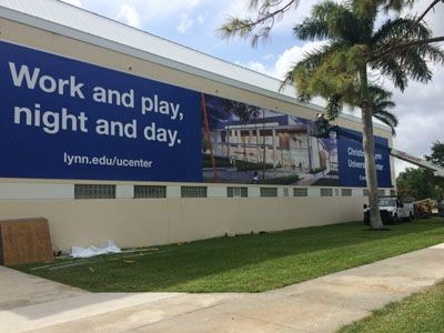 Large Format Banner and Frame for Lynn University