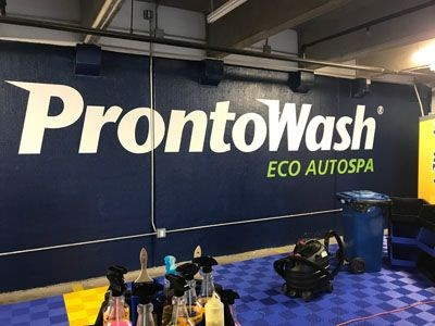 Vinyl install for Prontowash