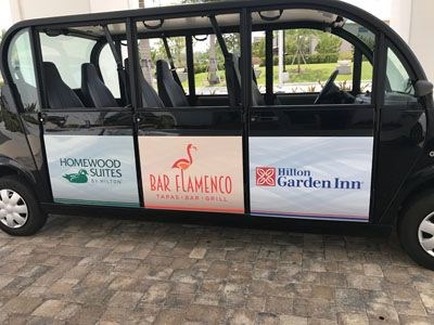 Vehicle Graphics for Hilton Garden