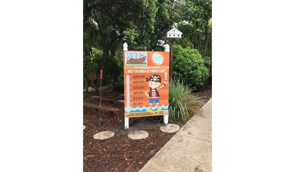 Max Metal Post and Panel Sign for the Boca Raton Childrens Museum