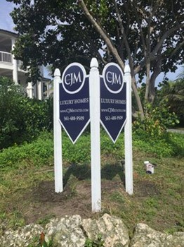 Post and Panel sign for CJM